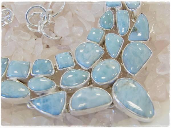 カリブ海の宝石★ゴージャスなラリマーのシルバー925トゥグルネックレス