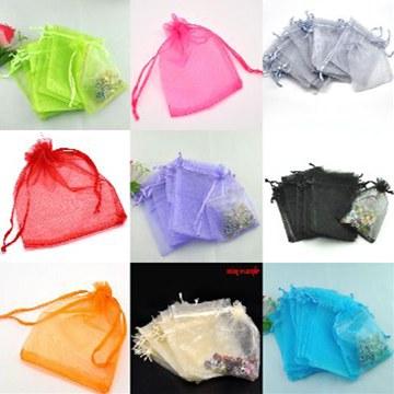 ジュエリーの保存やプレゼントに♪オーガンジー無地巾着袋12×9cmサイズ1000枚セット★
