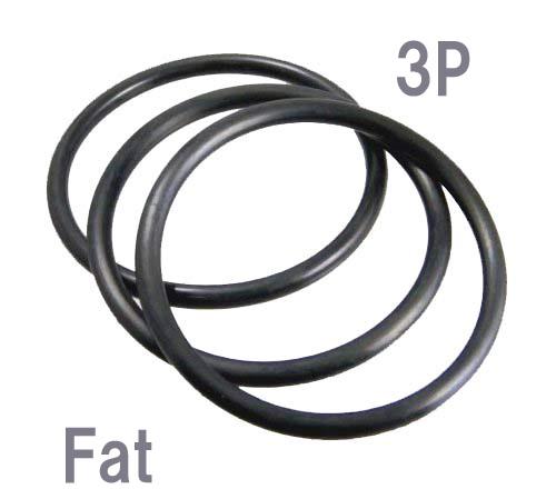 Rubber Bracelet Black 3 P Thick Bracelets Fine Bangle