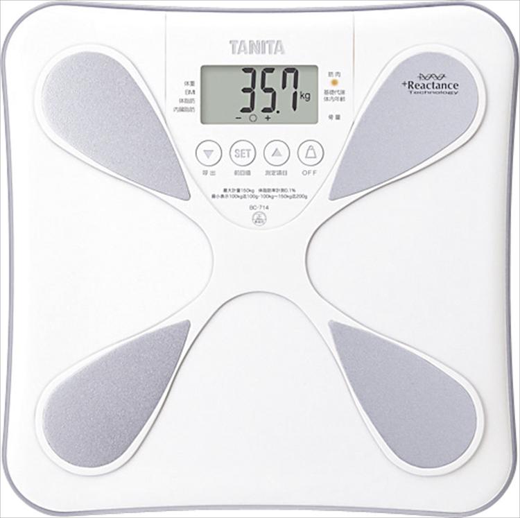 タニタ 体組成計 BC-714WH【 乗るだけ 自動電源 健康 ダイエット 身体 体重計 測定器】