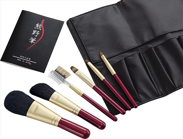 熊野筆 筆の心 ブラシ専用ケース付 KFi-R156【 本物 筆 フデ ふで ブランド 肌触り 極上 逸品 高い品質 メイク 化粧 有名 世界 最高級】