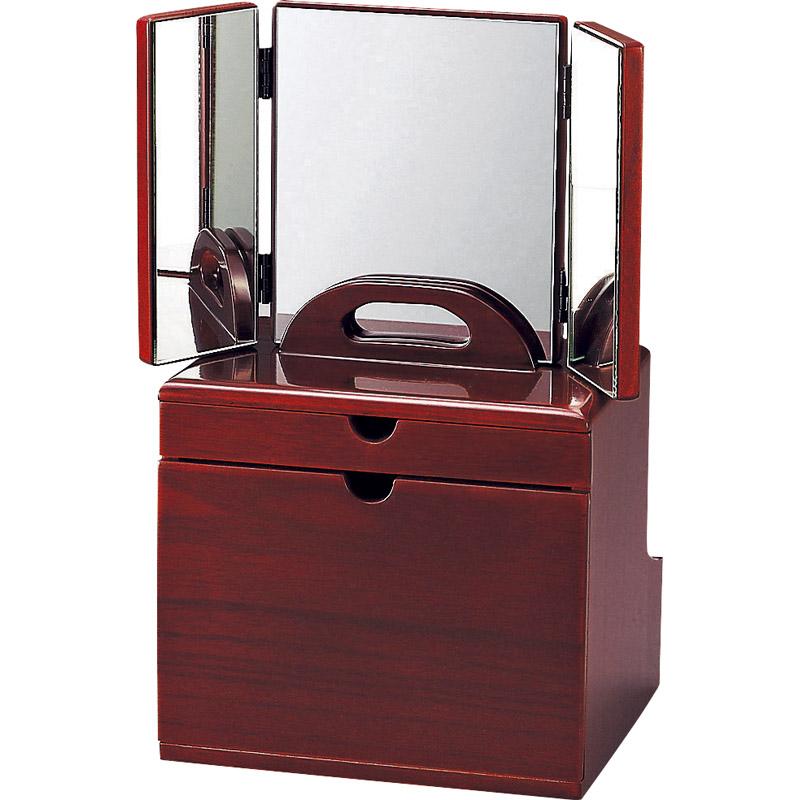 DXセパレートコスメ(三面鏡) 6780【三面鏡 メイクボックス コスメボックス 卓上 折りたたみ 天然木 コスメ メイク 化粧 化粧台 収納 木製】