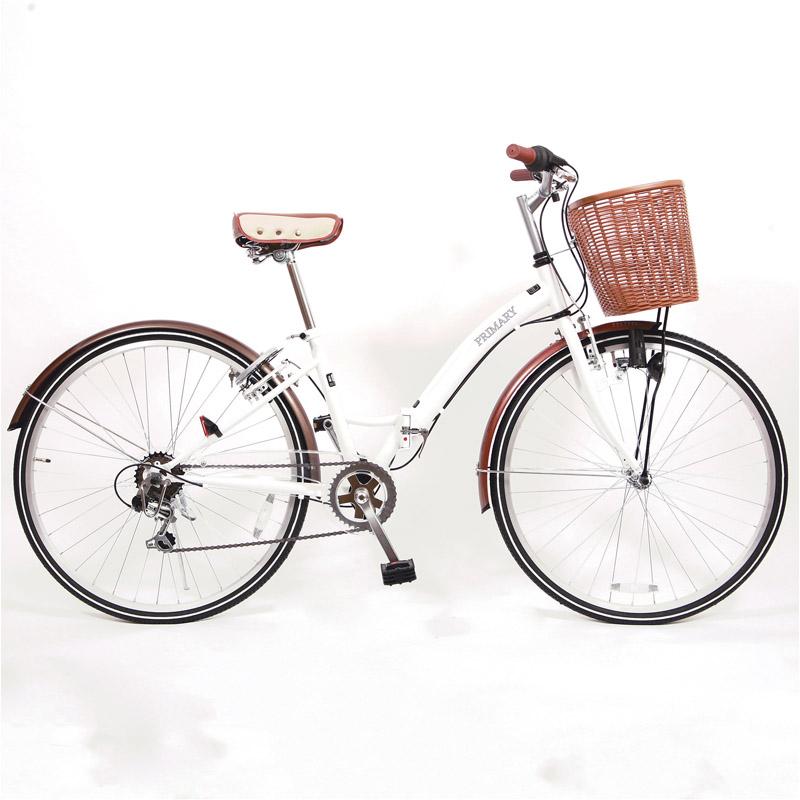 【送料無料】 26インチ折りたたみ自転車 シティサイクル 6段変速付 PRIMARY WB GF-J626-WB