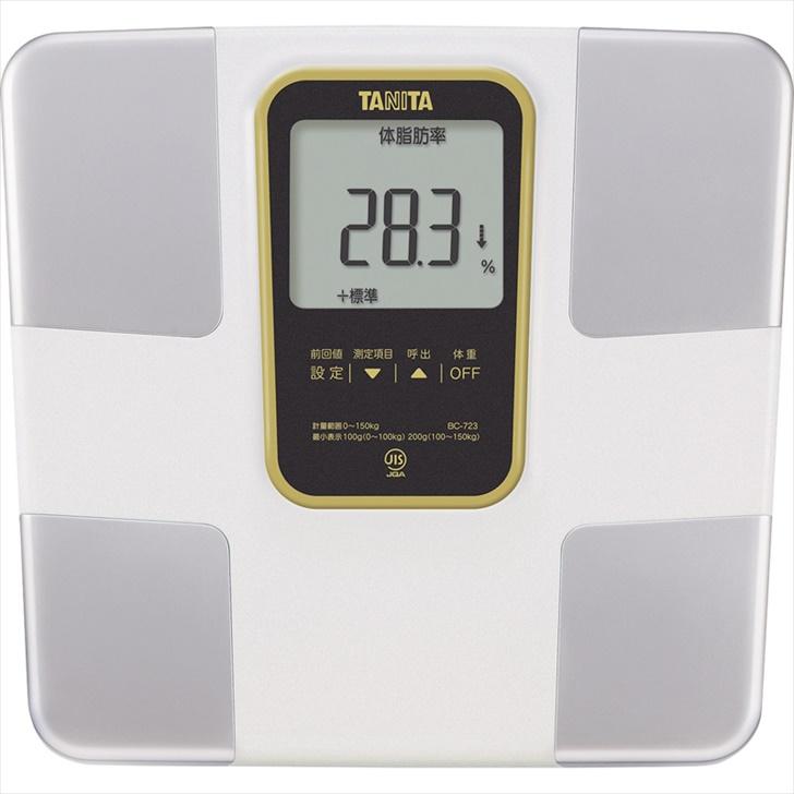 タニタ 体組成計 BC723WH【体重計 のるぴた のるだけ 体重 内臓脂肪レベル BMI 筋肉 基礎代謝 体内年齢 水分量 データ登録 体脂肪 ダイエット 健康 肥満】