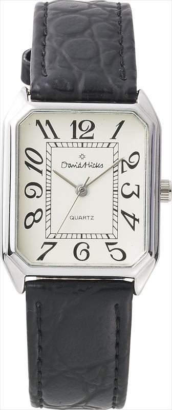 デービッド・ヒックス メンズウォッチ DH-401 【腕時計 革ベルト モダン シンプル 個性的 きれい 普段遣い クラシカル スクエア】