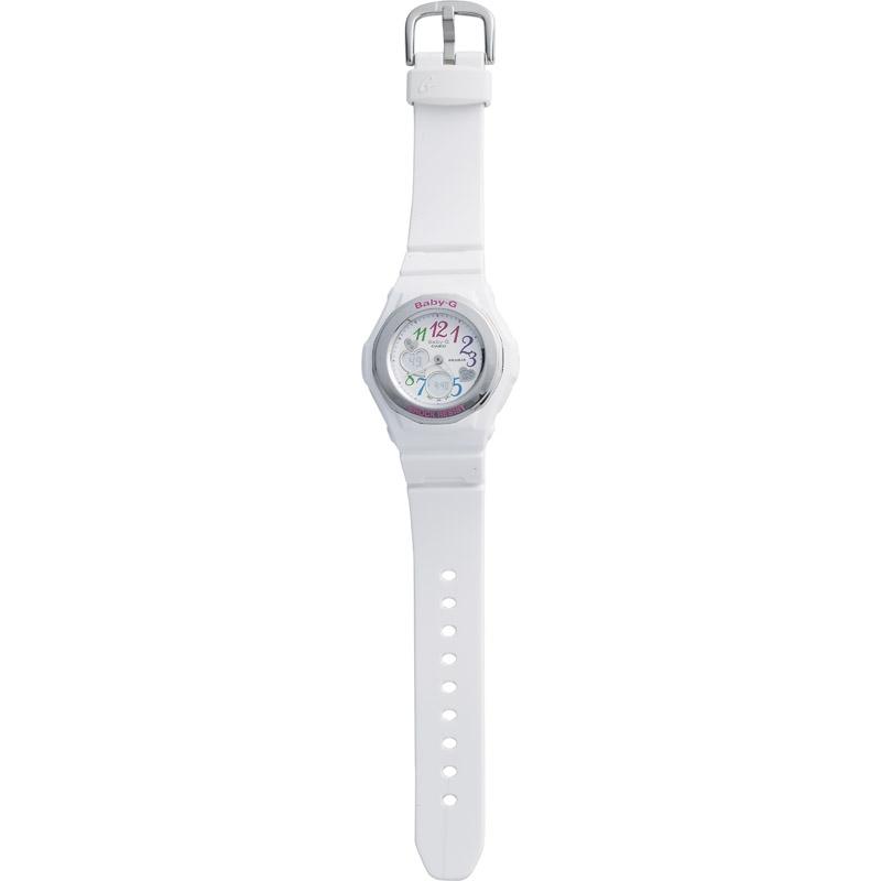 【送料無料】 カシオ BABY-G マルチカラーインデックス BGA-101-7B2JF 【腕時計 とけい レディース 女性 おしゃれ CASIO ホワイト きあつぼうすい ベビーG かわいい】