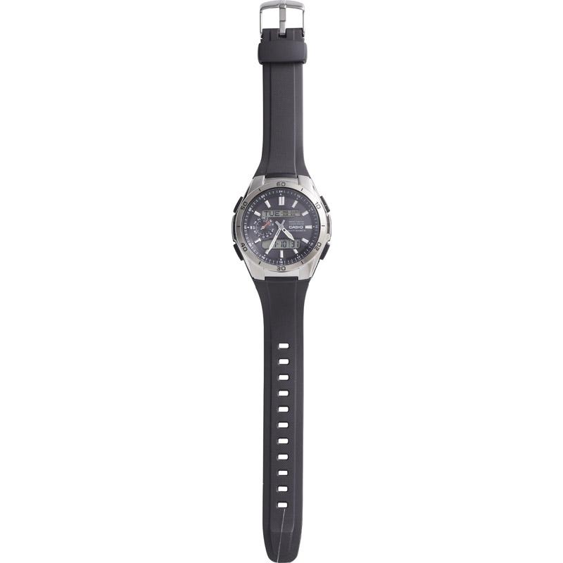 【送料無料】 カシオ ウェーブセプター 電波ソーラーウォッチ WVA-M650-1AJF 【腕時計 うでどけい メンズ 男性 おしゃれ かっこいい CASIO きあつぼうすい 黒 ブラック】