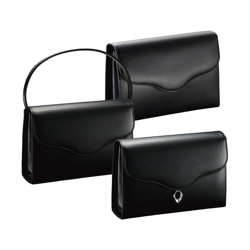 【送料無料】 フォーマル3ウェイバッグ ブラック 3W-15011 【かばん 手提げ 手持ち 女性 レディース 葬儀 葬式 冠婚葬祭 シンプル トートバッグ 黒 日本製】