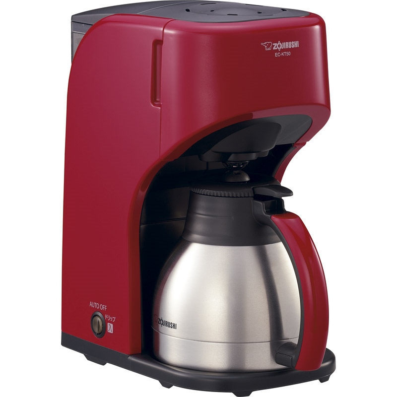 【送料無料】 象印 コーヒーメーカー レッド EC-KT50-RA 【魔法瓶 予約 タイマー 丸洗い おいしい コーヒー 浄水機能 ドリップ式 省エネ 割れない】