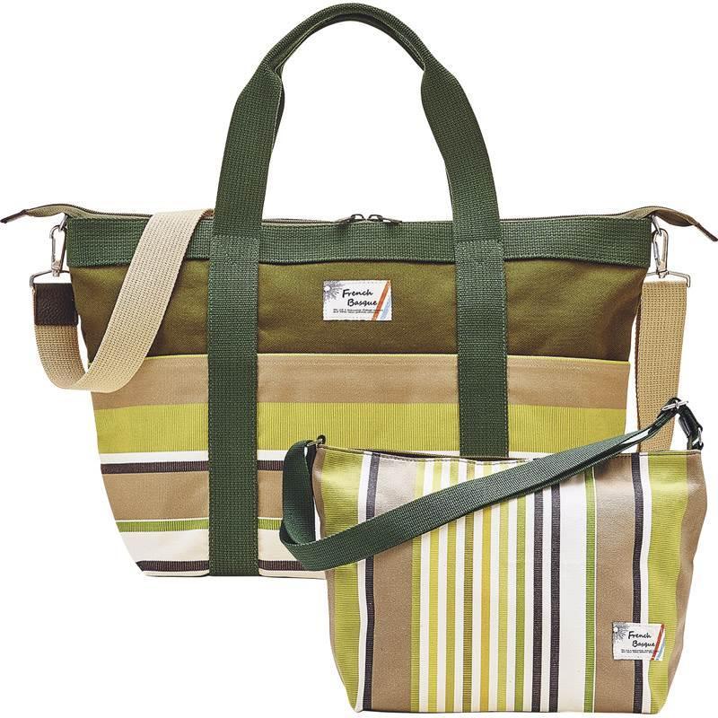 【送料無料】 フレンチバスク バッグセット グリーン BSQ85250-G 【キャンバス カジュアル カラフル ショルダーベルト 個性的 ファッション】