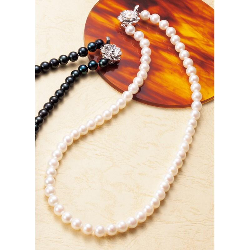 【送料無料】 アコヤパール・ネックレス ホワイト UPN-KYW 【真珠 しんじゅ ジュエリー アクセサリー フォーマル お葬式 葬儀 結婚式 正装 カジュアル】