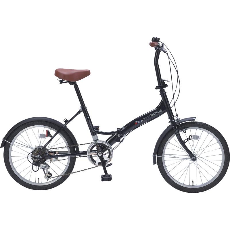 【送料無料】マイパラス 折畳自転車20インチ6ギア ブラック M-209 BK