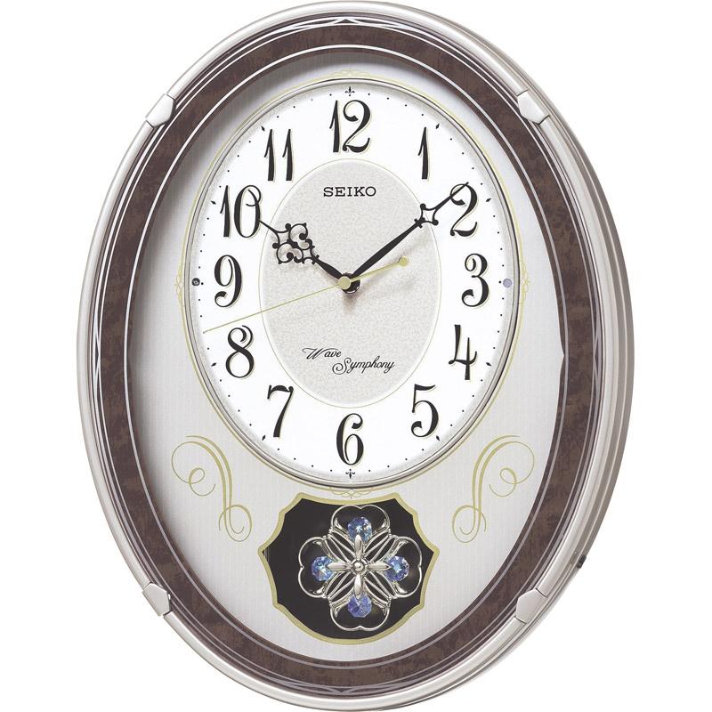 【送料無料】セイコー 振子付メロディ電波掛時計 AM259B