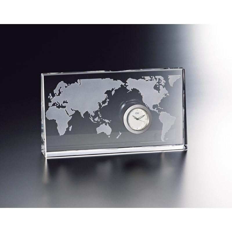 【送料無料】グラスワークスナルミ 【WORLD】クロック GW1000-11074
