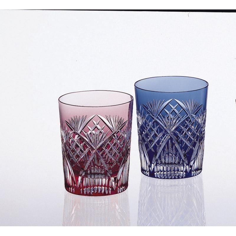 【送料無料】カガミクリスタル ペアマイグラス〈笹っ葉に斜格子紋〉 #2652[tr]
