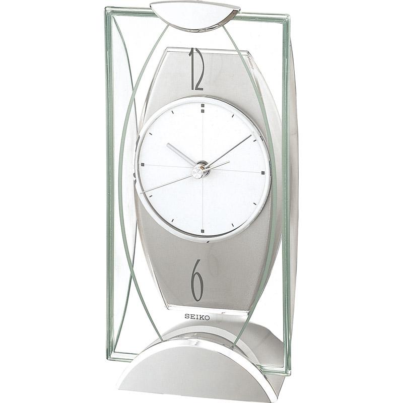 セイコー 置時計 BZ334S【置き時計 おしゃれ ステップ秒針 セイコー アナログ】[tr]:通販パーク