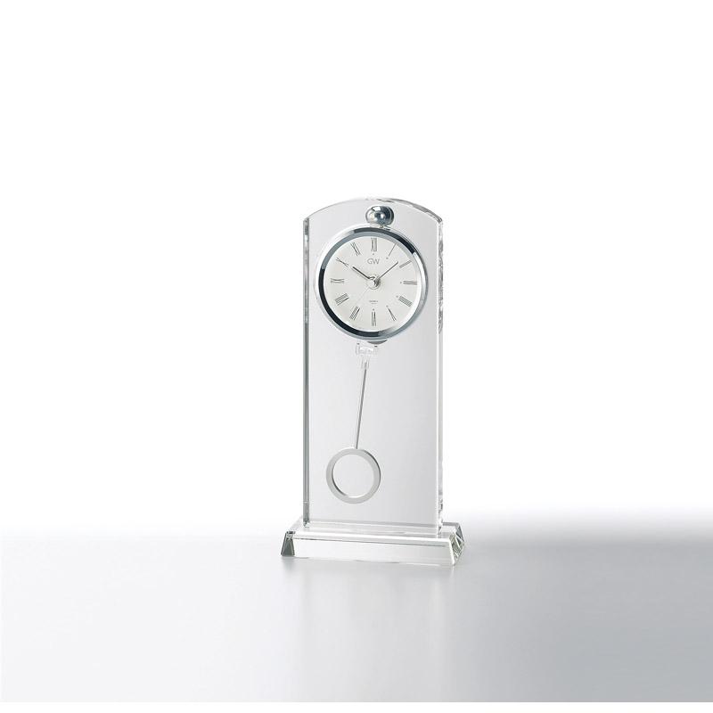 【送料無料】 グラスワークスナルミ ペンドラムクロック[セレナ] GW1000-11017【アナログ 記念時計 上品 贈答品 贈呈品 透明感 おしゃれ 記念品 シンプル 置時計ガラス ブランド】[tr]