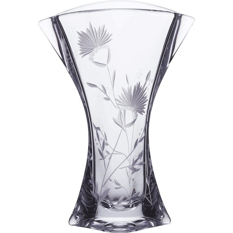 【送料無料】 ラスカボヘミア フラワーベース SVL-1000【花瓶 おしゃれ ガラス 大きい 花柄 クリスタル】