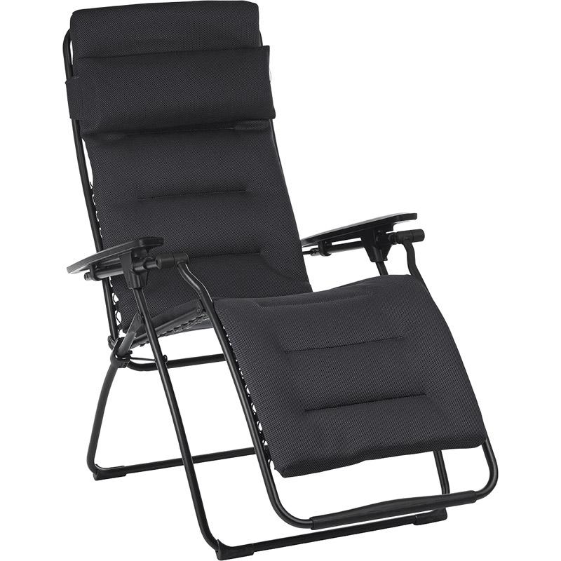 【送料無料】 ラフマ リクライニングチェア ブラック LFM3110【家具 椅子 おしゃれ 折りたたみ チェア リラックス リクライニング 】