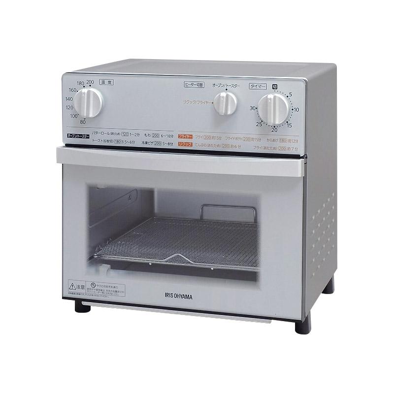 【送料無料】 アイリスオーヤマ ノンフライ熱風オーブン FVX-D3B-S【オーブントースター トースター おしゃれ ファミリー 4枚 スチーム ふんわり】