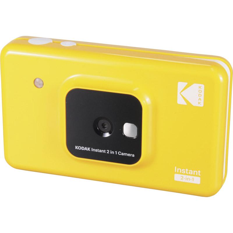 【送料無料】 コダック カメラ付きフォトプリンターセット イエローC210YE 【写真 現像 プリントアウト 小型 KODAK Bluetooth 印刷 充電式 持ち歩き スマートフォン用 撮ってすぐ 撮ったらすぐ すぐ現像】[tr]