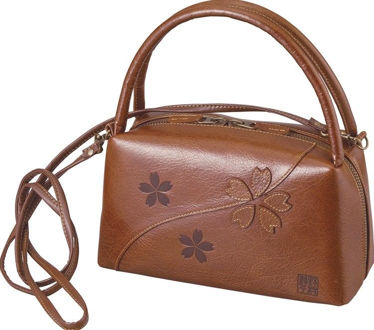 【送料無料】野村 修平 サクラ ショルダー付バッグ ブラウン NS-1515 【ハンドバッグ おしゃれ かわいい レディース 婦人 女性用 プレゼント 母の日】