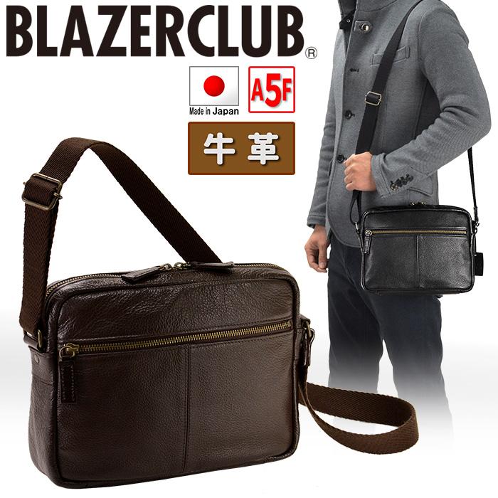 ショルダーバッグ メンズ 本革 A5F 横型 斜めがけ 革 かっこいい レザー ショルダーバック ビジネスバッグ 日本製 国産 BLAZER CLUB ブレザークラブ #16390