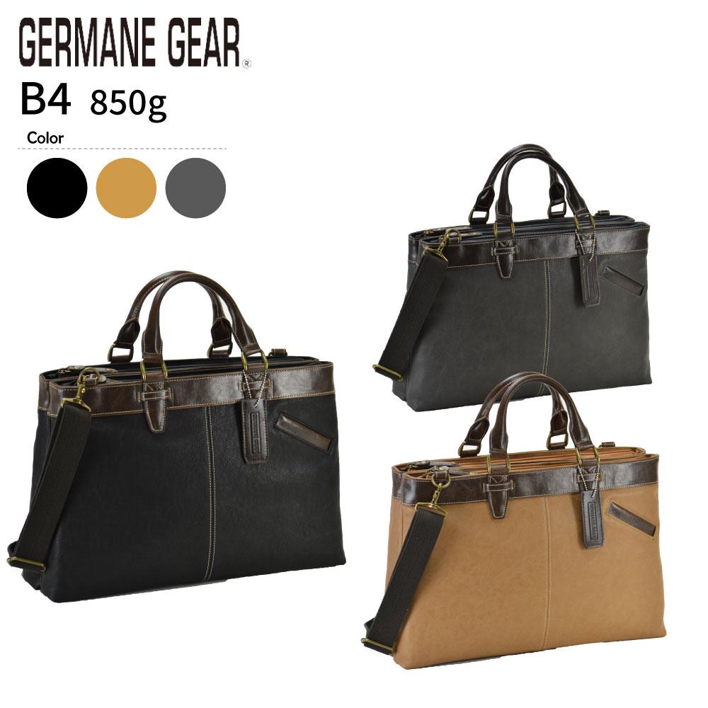 ビジネスバッグ メンズ ブリーフケース B4 A4 2室式 2way 大容量 カジュアル GERMANE GEAR #26603 機能性が高いダブルルーム仕様 おすすめ 機能性 黒