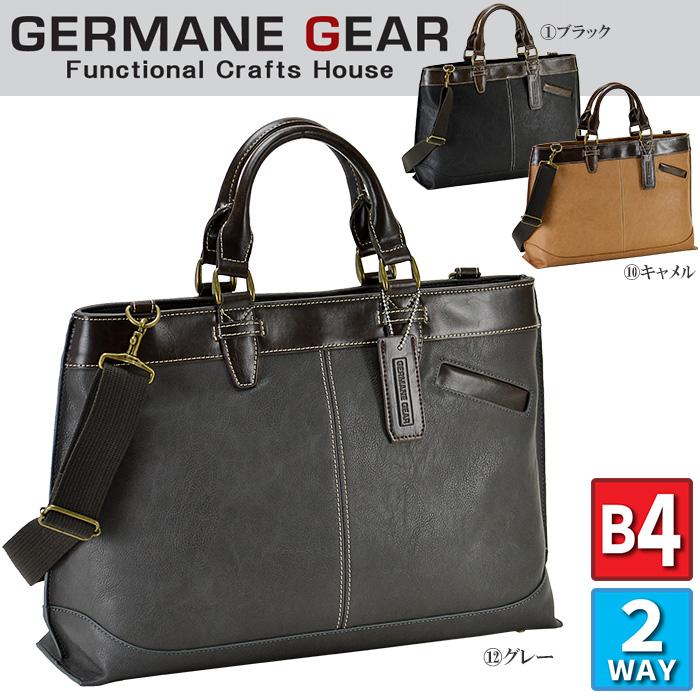 ビジネスバッグ メンズ ブリーフケース B4 A4 2way 大容量 カジュアル GERMANE GEAR #26604 機能性に富む3層コンパートメントのメンズビジネスブリーフ