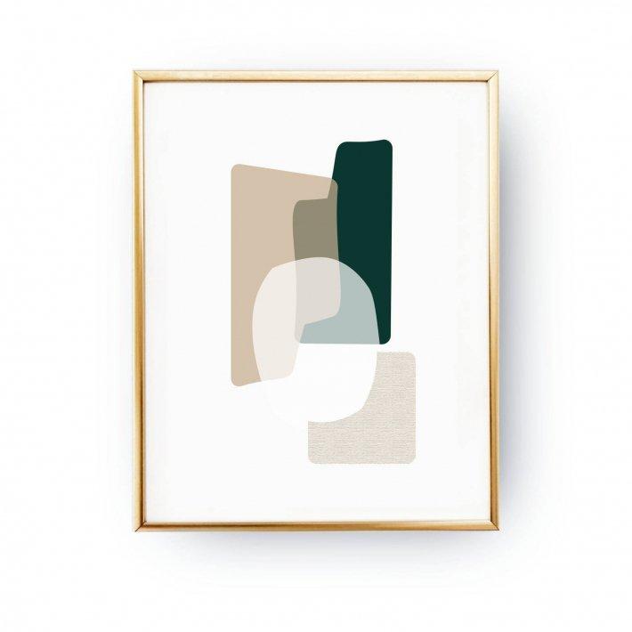 キャンペーンもお見逃しなく Lovely 新品■送料無料■ Postersの人気デザインのコンパクトなA5サイズ ポスター LOVELY POSTERS GREEN BEIGE ABSTRACT メール便送料無料 北欧 アートプリント PRINT A5 シンプ インテリア