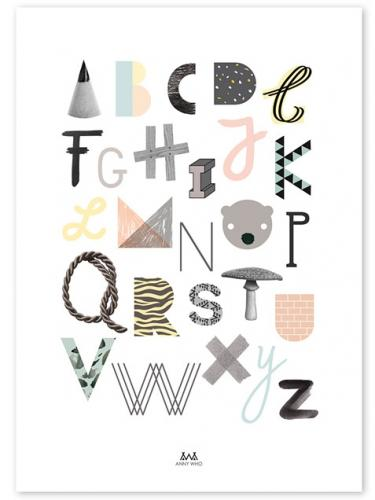 ANNY WHO | ABC POSTER | 아트 프린트/포스터 포스터 (50x70cm)