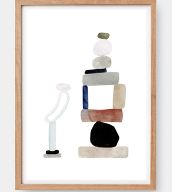 Clara Selina Bachの日本未入荷ポスター CLARA SELINA BACH 人気 ABSTRACT CITY アートプリント アブストラクト デンマーク 水彩 ポスター 贈呈 #1 A3 イラストレーション