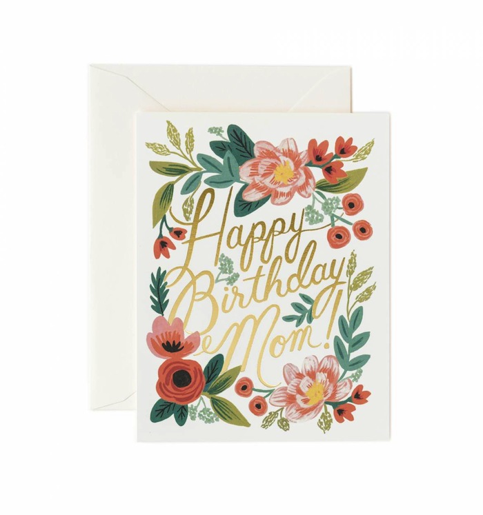 Fine Stationery Brand Of American RIFLE PAPER CO By Greeting Cards Mother Birthday To Express My Precious