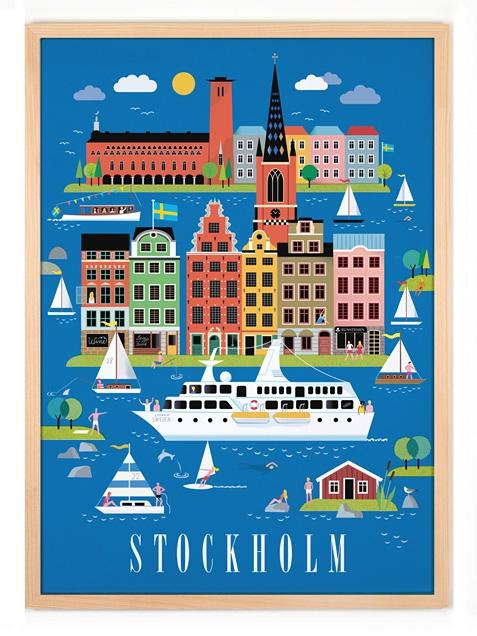 hafen rakuten global market human empire stockholm poster 50x70cm. Black Bedroom Furniture Sets. Home Design Ideas