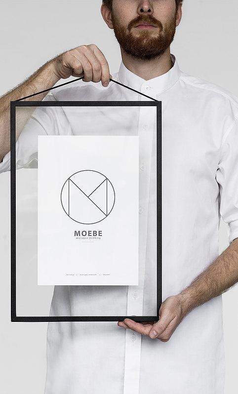 コペンハーゲンのデザイン集団 MOEBEによるポスターフレーム MOEBE A3 FRAME black 配送員設置送料無料 ムーベ 今だけスーパーセール限定 デンマーク インテリア 北欧 ポスターフレーム アルミフレーム