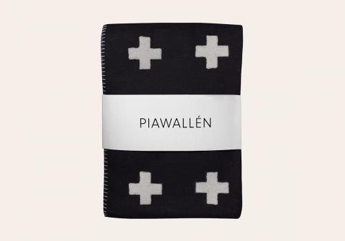 PIA WALLEN   CROSS BLANKET (black)   ブランケット サイズS