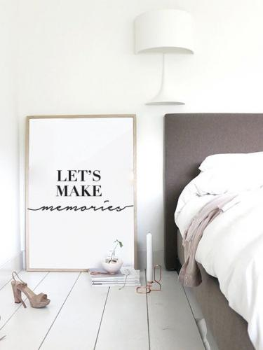 LOVELY POSTERS | LET'S MAKE MEMORIES | アートプリント/ポスター (50x70cm)【北欧 シンプル おしゃれ】