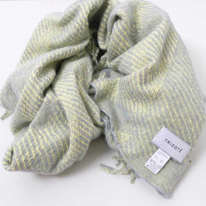Tricote | 斜めストライプマフラー (yellow) | マフラー【送料無料 トリコテ シンプル おしゃれ 防寒】