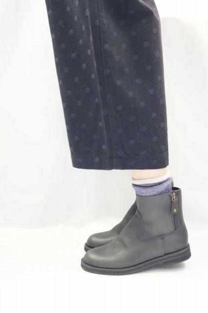 【在庫残り1】minan polku | side zip boots (black) | ブーツ 38 (24cm)