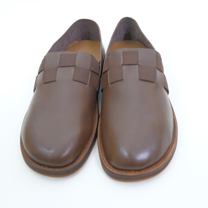 【SALE セール】minan polku | checkered pattern slip-on 38 (d.brown) | シューズ