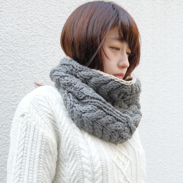 Tricote | スヌード (gray) | マフラー【送料無料 トリコテ シンプル おしゃれ 防寒】