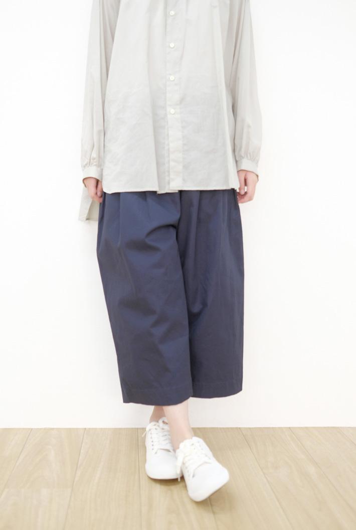 STAMP AND DIARY | ウエストタックワイドパンツ 82cm丈 (navy) | ボトムス【スタンプアンドダイアリー】