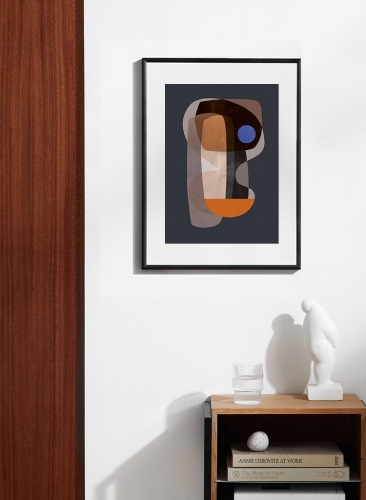 ATELIER CPH | ABSTRACT CUBISM | アートプリント/ポスター (50x70cm)【北欧 デンマーク インテリア シンプル おしゃれ】