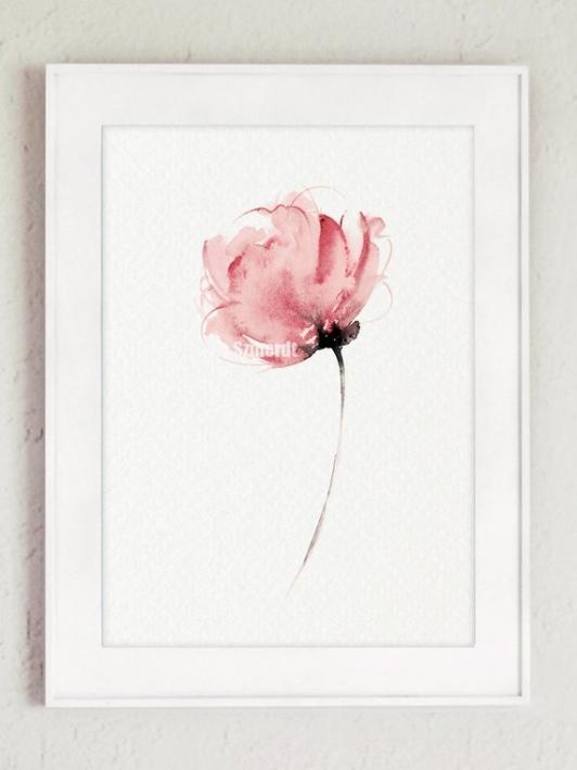 ポーランドの女性デザイナー Joanna Szmerdtによる水彩アートポスター COLOR WATERCOLOR Abstract 感謝価格 Flower 人気ブランド多数対象 Peonies A3 Art アートプリント 北欧 #2 おしゃれ シンプル ポスター