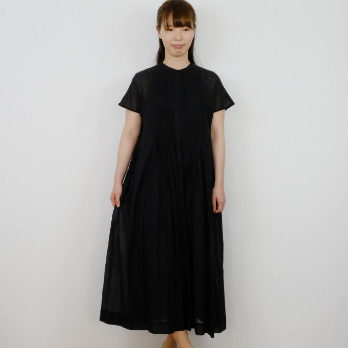 utilite | ピンタックワンピース (black) | ワンピース【送料無料 ユティリテ オケージョン ブラック シンプル】