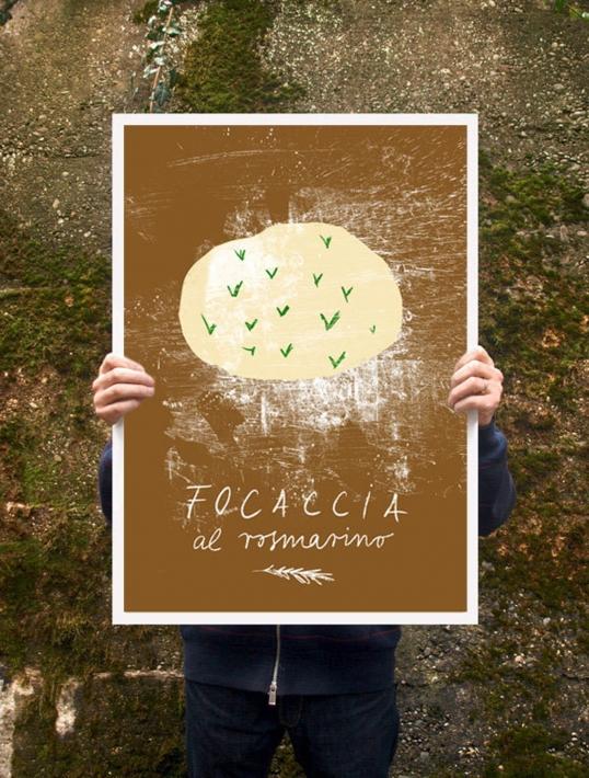 【オーダーメイド】ANEK | FOCACCIA | アートプリント/ポスター (50x70cm)