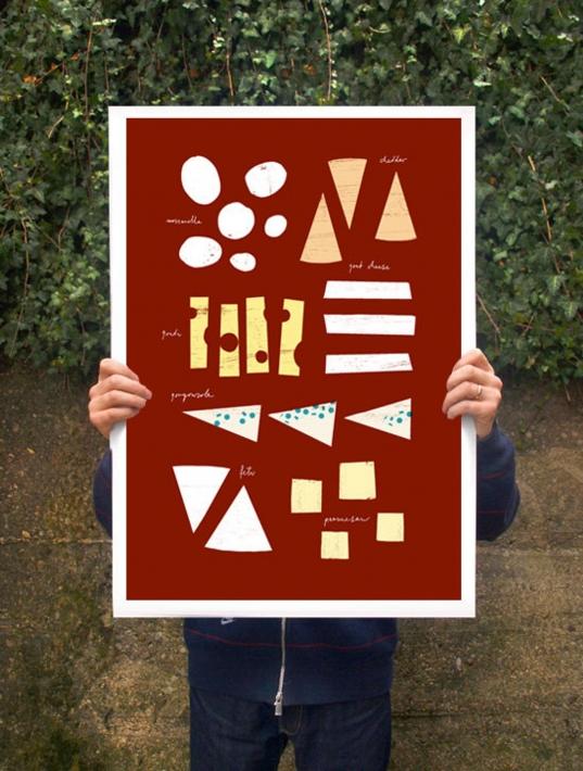 【オーダーメイド】ANEK | Cheese Chart Kitchen Poster | アートプリント/ポスター (50x70cm)【北欧 カフェ レストラン インテリア おしゃれ】