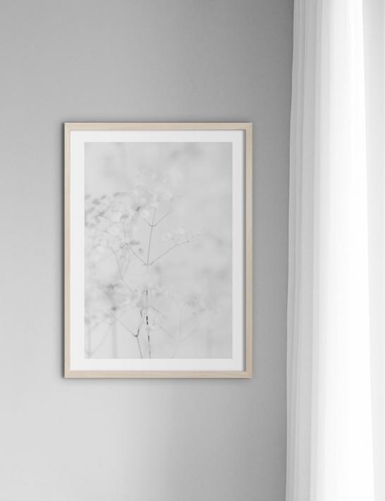 スウェーデン トレレボリのデザイン オフィス 流行 Nouromによるアートプリント NOUROM WHITE FLOWERS #1 ミニマル インテリア ポスター おしゃれ レビューを書けば送料当店負担 アートプリント 北欧 A3 シンプル
