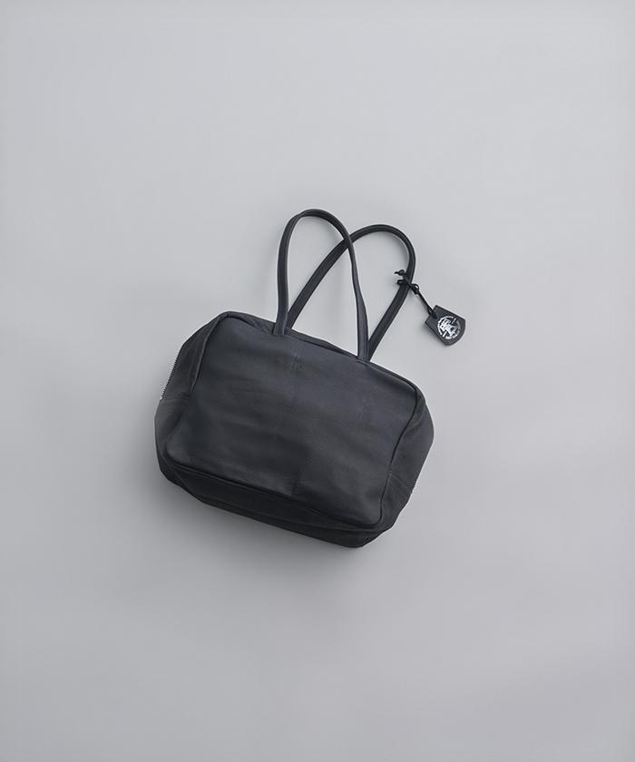 REN | ハリー・スクエアダッフルXS (black) | バッグ【送料無料 レン レザー シンプル おしゃれ】