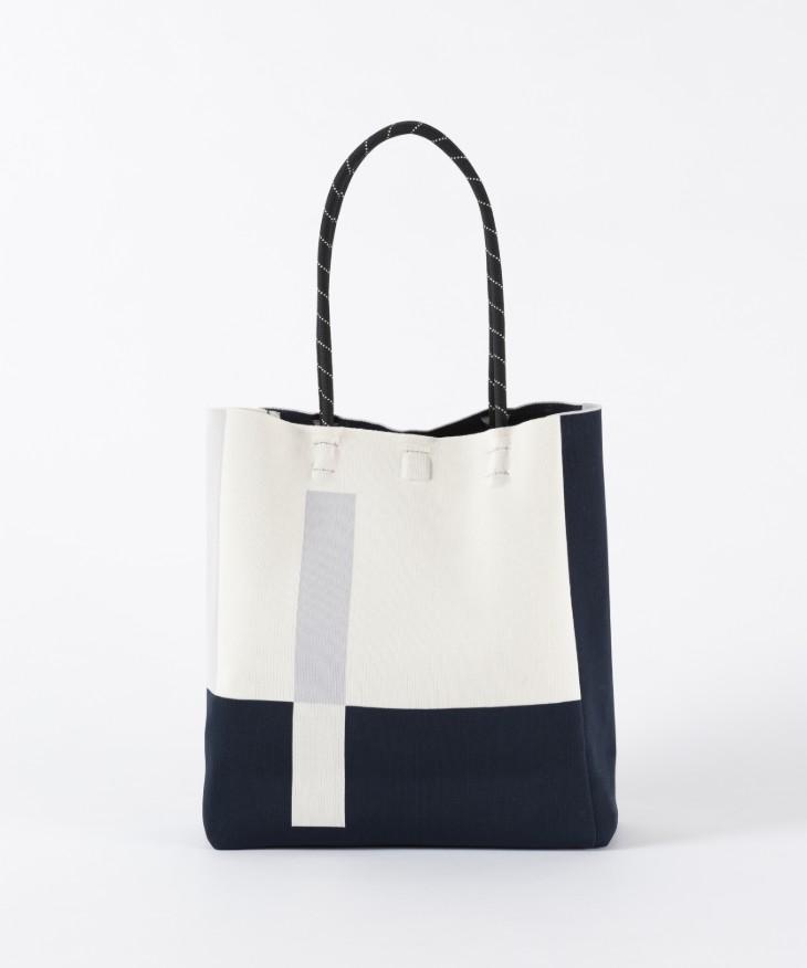 Tricote | ラインニットトートバッグ (white) | バッグ【トリコテ シンプル おしゃれ】